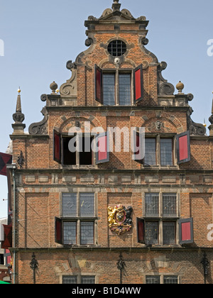 Waaghuis old patrician building on the market place grote markt in the old town of Nijmegen Netherlands - Stock Photo