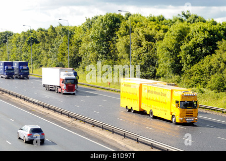 The start of the fuel protest in the northwest along the M6 motorway on the 14-06-2008 - Stock Photo