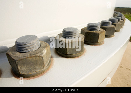bolts supporting a heavy load - Stock Photo