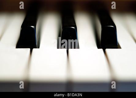 Close up of piano keys - Stock Photo