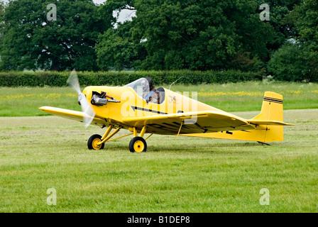 Druine D.31 Turbulent aircraft at  Headcorn, (Lashenden) aerodrome, Kent, England - Stock Photo