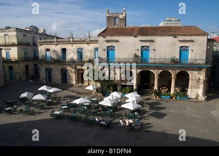Havana La Habana Vieja Plaza de la Catedral - Stock Photo