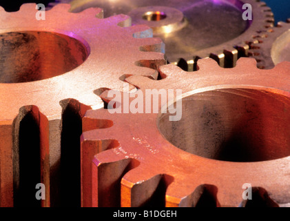 Colorful Gears Connecting - Stock Photo