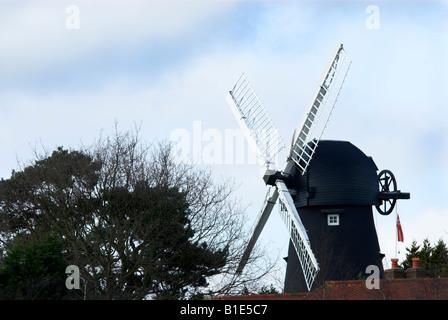 Woriking Windmill in Burseldon Hampshire England UK - Stock Photo