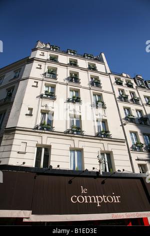cafe le saint germain paris france stock photo royalty free image 80296895 alamy. Black Bedroom Furniture Sets. Home Design Ideas