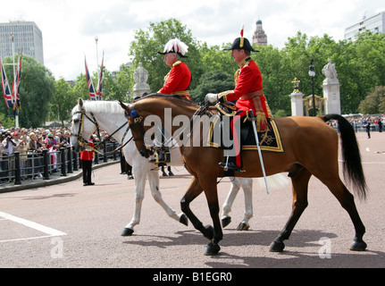 Dignatories at the Trooping the Colour Ceremony, Buckingham Palace, London, June 14th 2008 - Stock Photo