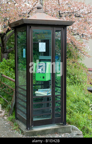Kyoto, Japan. Public telephone kiosk - Stock Photo