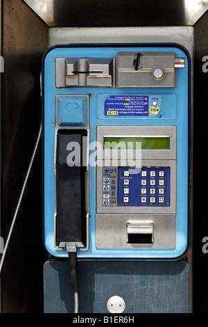 2nd May 2008 Spanish public telephone kiosk Moraira Costa Blanca Alicante Spain - Stock Photo
