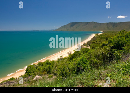 View of the North Queensland coast, rainforest and beaches, Australia - Stock Photo