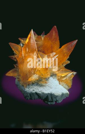 Calcite on Barite - Stock Photo