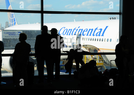 Airport Gate and Continental - Stock Photo