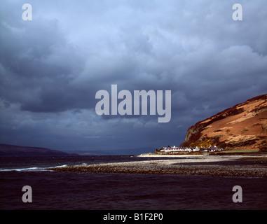 Storm clearing the Twelve Apostles, Isle of Arran.  Scotland. - Stock Photo