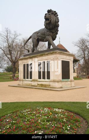 Maiwand Lion in The Forbury Gardens Reading Berkshire England UK - Stock Photo