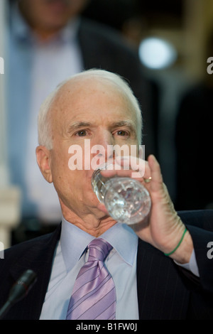 Republican presidential candidate and US Senator John McCain attends an event in New York City, USA, 10 April 2008. - Stock Photo