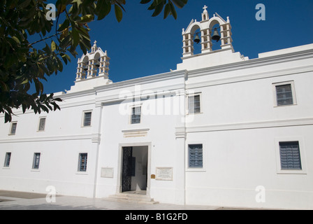 Church of Our Lady of a Hundred Doors on Paros Island - The Panagia Ekatontapyliani - Stock Photo