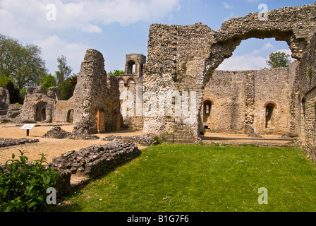 Wolvesey Castle, (Old Bishop's Palace), Winchester, England - Stock Photo