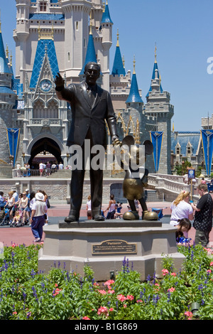 Walt Disney Holding Hands With Mickey Mouse The Partners