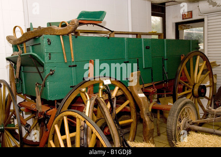 Old Wagon at Glore Psychiatric Museum St Joseph Missouri USA - Stock Photo