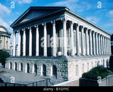 Birmingham Town Hall Chamberlain Square Victorian classical style architecture Greek Parthenon imitation columns - Stock Photo