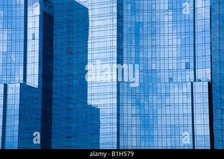 Skyscrapers in a city, Intercontinental Boston Hotel, Fort Point Channel, Boston, Massachusetts, USA - Stock Photo