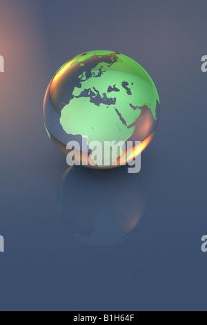 Computer generated globe - Stock Photo