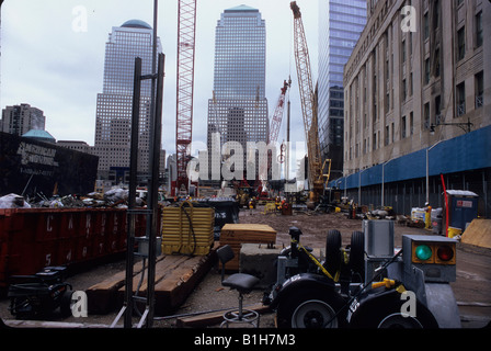 Construction site with skyscrapers in the background World Trade Center World Financial Center Manhattan New York - Stock Photo