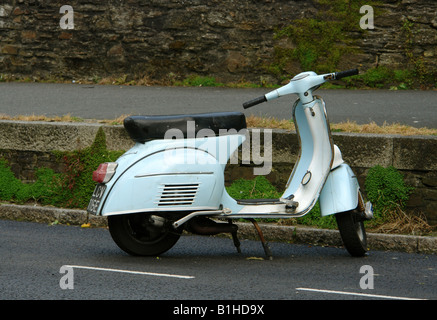 Vespa Scooter in Falmouth Cornwall England GB UK 2008 - Stock Photo