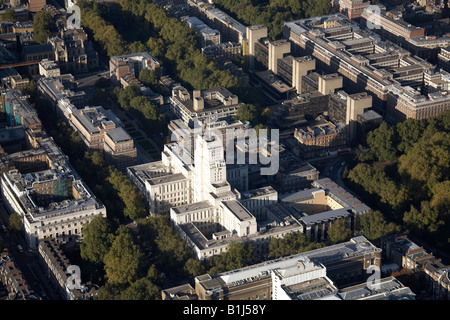 Aerial view north of Senate House Brunei Gallery and University of London and inner city buildings Bloomsbury London - Stock Photo