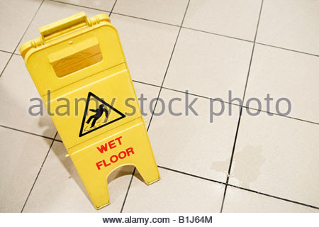 Wet floor - Stock Photo