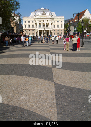 Bratislava, National Theatre, Slovakia, Bratislava - Stock Photo