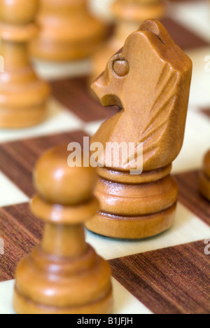 king and queen on chess bord - Stock Photo