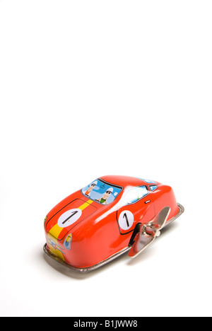 Toy car with metal  key - Stock Photo