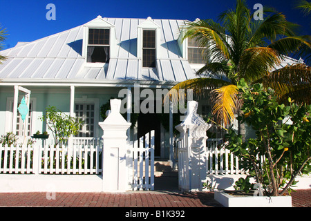 Colorful house in Grand Turk - Stock Photo