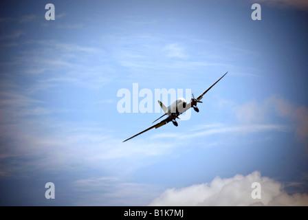 Classic Flight Air Atlantique Dakota aircraft in flight - Stock Photo