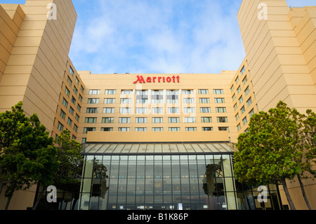 The Marriott hotel at San Francisco Airport, Burlingame CA - Stock Photo
