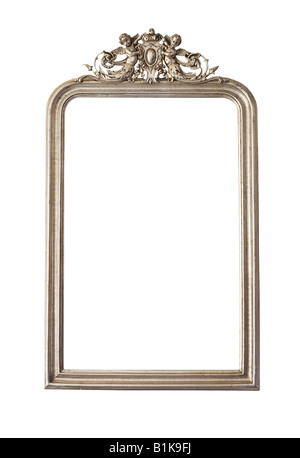 Ornate wall mirror cut-out - Stock Photo