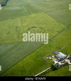 Arbor Low Henge and Stone Circle, Derbyshire, Northern England - Stock Photo