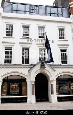 entrance to sothebys auction house new bond street london england uk - Stock Photo