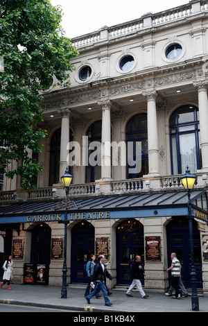 exterior of the garrick theatre charing cross road westminster london uk - Stock Photo