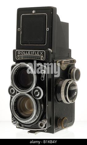 Rolleiflex Twin Lens Reflex Camera - Stock Photo
