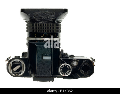 Nikon F2a 35mm Single Lens Reflex Camera - Stock Photo