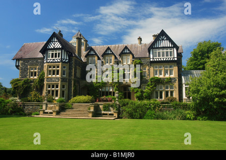 Bodnant Hall - Bodnant Gardens, Wales - Stock Photo
