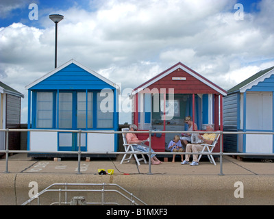 Lazy days beach hut at Southwold, Suffolk - Stock Photo