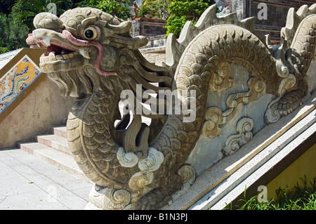 Dragon Detail at the Long Son Temple, Nha Trang, Vietnam - Stock Photo
