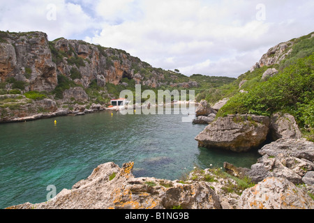 Cales Coves Beach and Talaoitic Necropolis Menorca Minorca - Stock Photo