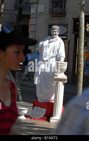 La Rambla, Barcelona, Spain - Stock Photo