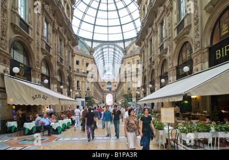Galleria Vittorio Emanuele II, off Piazza del Duomo, Milan, Lombardy, Italy - Stock Photo