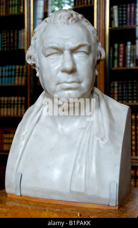 Sir Joseph banks 1743 1820 AD Botanist made by Sir Francis Chantrey 1822 - Stock Photo