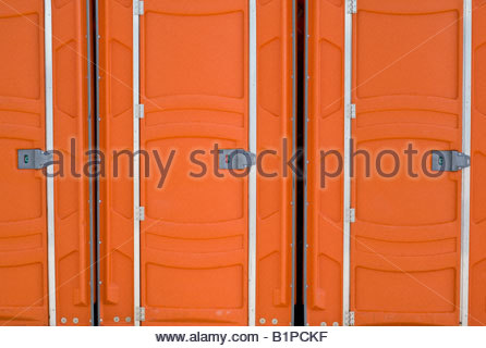 Outdoor toilets at Harbourfront in Toronto Ontario Canada - Stock Photo