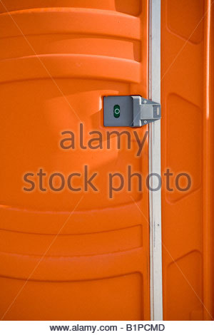 Outdoor toilet at Harbourfront in Toronto Ontario Canada - Stock Photo